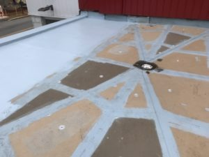draining system of roofing system progress