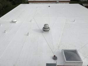 finished new cooling roof system