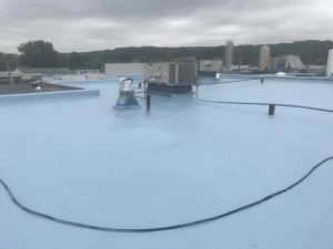 final work of roofing system applied