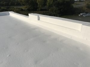 up close image of cooling roofing system