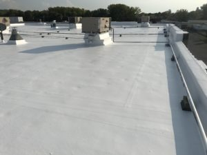 final work of cooling roofing project