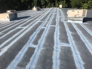 in progress image of roof