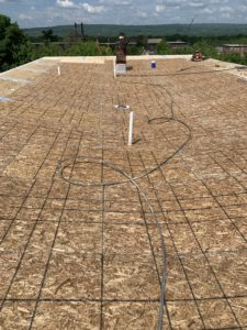 board layering of new roofing process