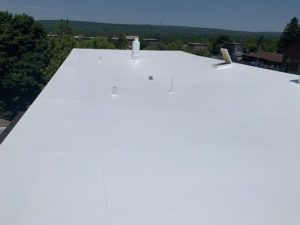 completed new cooling roofing system