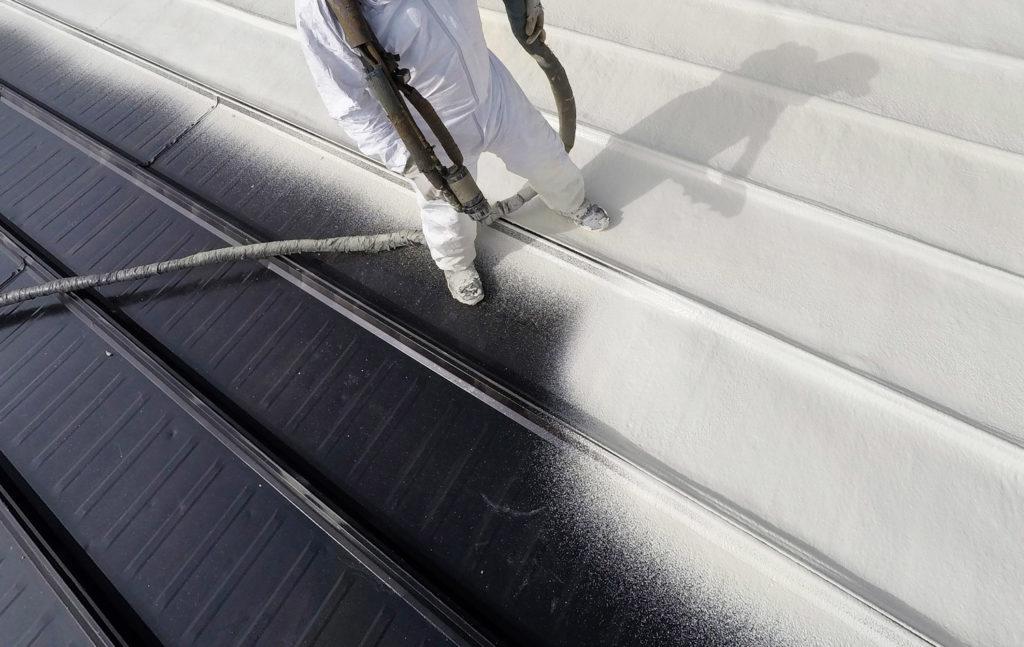 Spraying foam 1