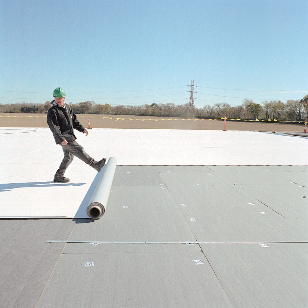 TPO Roofing Material kick out